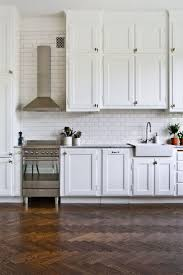 Wood Floors For Kitchens Fancy Fabulous Herringbone Wood Floors In The Kitchen Kitchn