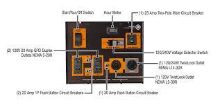 generac xd5000e portable diesel generator dr power equipment generac xd5000e control panel