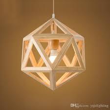 pendant chandelier wood geometric lighting led e27 wood solid wood lamps art deco restaurant chinese style warm light restaurant cafe sstudy globe pendant