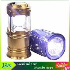 Bảng giá Đèn pin đi phượt cắm trại - đèn bão pin năng lượng mặt trời  GDBINHC26