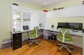 shared office space ideas. View In Gallery Stylish Sayl Task Chairs For The Compact Home Office Shared Space Ideas A