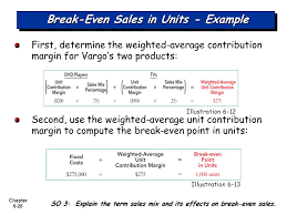 chapter 6 26 break even s in units example first determine the