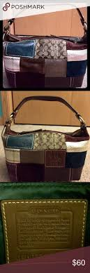 ... TOTE BAG PURSE RARE Coach holiday patchwork too handle pouch hobo bag  Authentic Coach holiday patchwork too handle pouch hobo ...