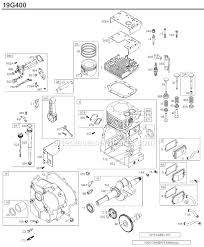 briggs and stratton 19g400 series parts list and diagram 0068 click to close
