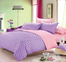 girly pink and purple dots comforter sets full with low fresh bedding