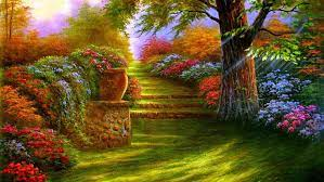 Beautiful Colorful Garden #painting ...