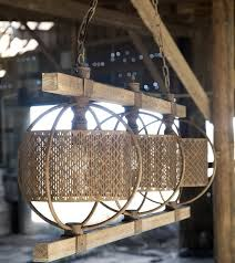 rustic rectangular metal and wood chandelier antique farmhouse for designs 9