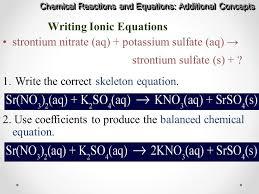 42 writing ionic equations
