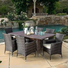outdoor furniture wicker. 7 Piece Patio Furniture Outdoor Wicker Dining Set W Cushions