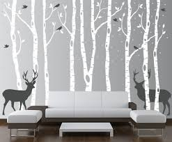birch tree winter forest set vinyl wall decal 1161 on tree wall art decals vinyl sticker with birch tree winter forest vinyl wall decal
