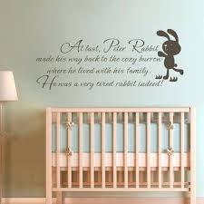 stand principle quote wall decal. Baby Wall Art Decals Buy Children Quote Peter Rabbit In Best And Newest Stand Principle Decal