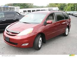 2007 Salsa Red Pearl Toyota Sienna XLE Limited AWD #37175689 ...