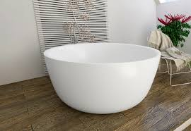 small freestanding solid surface bathtub 6
