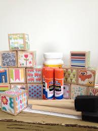 DIY Wood Baby Blocks // Baby Boy // Baby Shower Craft // Family Craft //  Childrens Blocks // Natural Wood Toy