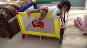 toddler escapes graco playard playpen  youtube