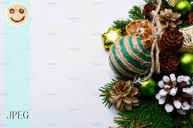 Christmas Background Christmas Background With Handmade Striped Twine Decorated