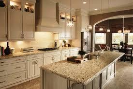 crema pearl granite with oak cabinets