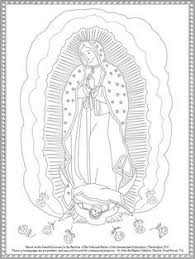 Our Lady Of Guadalupe Coloring Page Free Printable On Catholic