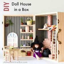 homemade barbie furniture. DIY Doll House In A Box: Turn Wooden Box Into Portable Cozy Homemade Barbie Furniture