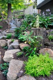 Nice shade and rock garden!