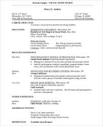 Example Of Social Work Resumes Sample Social Worker Resume 10 Examples In Word Pdf