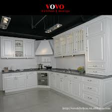 Plywood Board White Lacquer Door Panel Kitchen Cabinet Design In