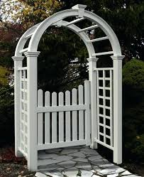 garden arch with gate new arbors deluxe arbor w model year warranty uk garden arch with gate