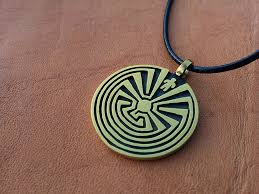 man in the maze pendant necklace