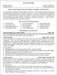 It Sales Engineer Resume Example Senior Account Manager 2017 Best