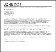 Cover Letters That Worked Cover Letter Template Non Profit 1 Cover Letter Template