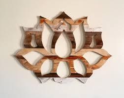 wooden lotus flower wall art