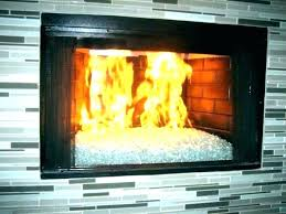 gas fireplace glass doors clean er best way to door installation