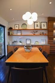 recessed lighting dining room. Built In Credenza Dining Room Modern With Wall Shelves Cone Recessed Light Trims Lighting