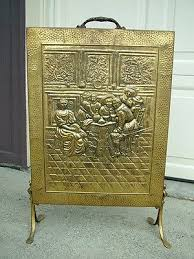 antique fireplace screen. fabulous antique fireplace screens and hammered brass screen i