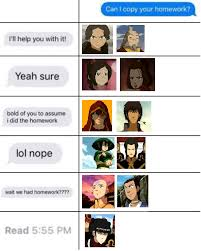 Can I Copy Your Homework Thelastairbender