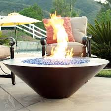 a custom 60 inch cono moreno hand hammered copper fire pit made interesting with lid