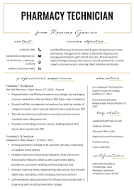 Pharmacy Technician Resume Example Writing Tips Resume Genius