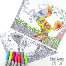 Small Picture Intricate Horses Coloring Pages for Adults Easy Peasy and Fun