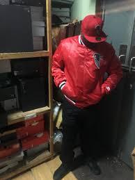 atlanta falcons nfl team starter jacket red