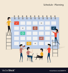 Schedule Calender Calendar With Schedule Planspeople Filling Out