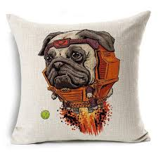 Superhero Printed Dog Cushion Covers 11 / 45cm x 45cm Decoration