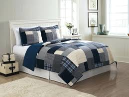 teen boys quilts navy blue white patchwork teen boy bedding twin full queen king quilt set plaid cotton home ideas for small living room