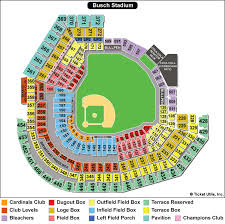 Busch Stadium Seat Map Map 2018