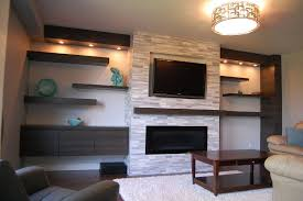 modern wall shelves decorating ideas around fireplace regarding remodel 19