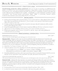 Executive Chef Resume Template Executive Chef Resume Template Sample ...