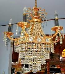 vintage french empire style crystal basket chandelier 6 3 lights