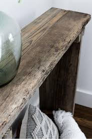 rh inspired console table