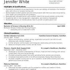 Nursing Student Resume Sample Nursing Student Resume Clinical Experience Joefitnessstore Com