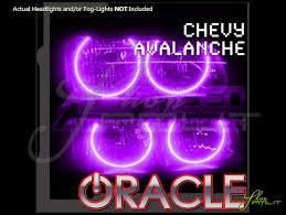 02-06 Chevrolet Avalanche LED ColorSHIFT Halo Rings Headlights Bulbs