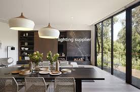 contemporary pendant lighting fixtures. Cool Modern Pendant Light Wood And Aluminum Lamp Black White Restaurant On Dining Room Fixtures Contemporary Lighting H